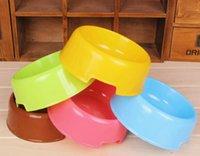 Wholesale Dog Bowls Candy color dog bowls pet food basins plastic dog bowl Pet Supplies