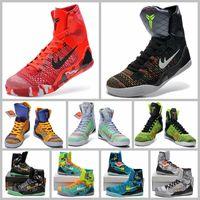 Wholesale Cheap Shoes Kobe KB IX Elite Black Mamba Blackout Christmas High For Men Basketball Sports Shoes