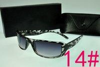 al por mayor las gafas de sol baratas rectángulo-2017 Gafas de sol del verano RECTÁNGULO Plástico lleno Sunglass del borde con la caja de lente de la caja de los vidrios Rayos EEUU Bain Barato resistente a los rasguños 4216