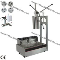 Wholesale hole Nozzles Heavy Duty L Manual Spanish Donuts Churreras Churros Maker Machine with L Fryer ml Filler