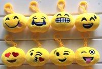 Wholesale New Plush Emoji toys for Kids Emoji Keychains Keyrings Yellow Face pendant cm quot Kids Gift
