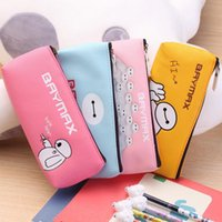 bay bag - Korea Bay max PU Cartoon Pencil Bag Pen Eraser Ruler Stationery Bags For Students Kids Classmate Girl Boy