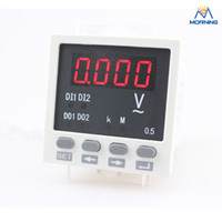 Digital Only AC Electrical High quality ME-AV81 white and biack single phase LED digital display voltage panel meter 48*48 mm