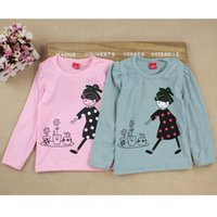 Wholesale Kids Toddler Clothes Baby Girls Clothing Cartoon Girl Print Long Sleeve T shirts Casual Blouse Tops Children s Clothing