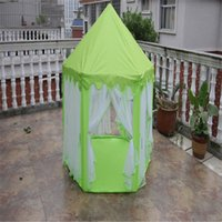 Wholesale Portable Children Kids Play Tents Outdoor Garden Folding Toy Tent Pop Up Kids Girl Princess Castle Outdoor House Kids Tent