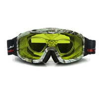 Wholesale Night Vision Ski Goggles Cloudy Day Snowboard Sunglasses Yellow or Plano Lens Hunting Goggles Anti fog with RX Insert Case