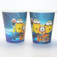 Wholesale Minions theme paper cups tableware kids favors for event party supplies child happy birthday party decorative cup
