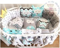Wholesale New Coming China Supplier Minky and Cotton Material Breathable Cute Design Baby Loves Crib Set for Newborn Gifts