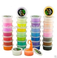 Wholesale 32 Colors Babies Learning amp Education Modeling Clay tools Play Doh Play Dough Hand Gum Soft Bright Color Fimo Polymer Plasticine