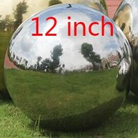 Wholesale Garden Decorations Inch size Top High Quality thickening Silver Stainless Steel Gazing Globe Large Gazing Balls