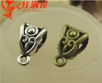 Wholesale A3313 MM Bronze Vintage jewelry accessories hanging DIY big hole beads charms pendant hanger pendant bail connectors