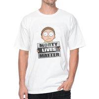Cheap Marty Lives Matter T-Shirt 1032 Cartoon PRINT VINTAGE DESIGN T-shirts FASHION MALE SHORT SLEEVE O-NECK T Shirts WHITE TEE PLUS EUROPE SIZE