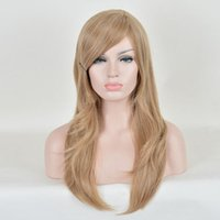 ash blonde hair color - Women Light Natural look Straight Long Wigs full WIG ash Blonde Brown Synthteic Hair Wigs
