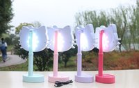 Wholesale LED rechargeable goggles lamp KT cute bedroom room make up night light portable lighting