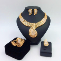 alloy access - 2016 stylish unique K gold plated jewelry set of African wedding jewelry in Dubai jewelry set of four pieces of jewelry for women s access