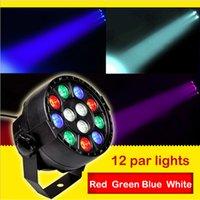 Wholesale 12W RGBW DMX512 Disco Light Stage Lamp flat Star Shower Laser Light Luces Discoteca led laser disco ball for pary dj