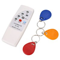 Wholesale White RFID Handheld KHz ID Door Access Card Copier Writer Duplicator Cloner with Writable Cards
