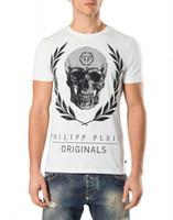 al por mayor impresión st-Los hombres de calidad superior marca PP camisetas tops 3d camiseta 2017 marca de verano de algodón de manga corta camiseta de moda cráneo caballo impreso Men'st-shirt