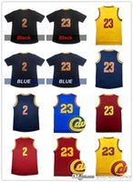 Wholesale High quality Men s Kyrie Irving Jersey Stitched embroidery Lebron James Jerseys Adullt Black