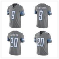Wholesale Men s Detroit Lions Barry Sanders Football Jerseys Steel Color Rush Limited Matthew Stafford Jersey stitched S XXXL