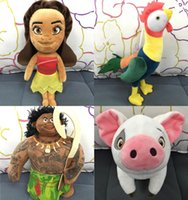 Wholesale New Moana Plush toys CM Moana Figure Toys Maui pua hei plush toy doll Moana princess Maui Action Figure toys Christmas Gift