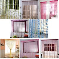 Wholesale Home Romantic Heart Pattern Love Curtain Valentine s Day surprise Window Curtain For Bathroom home Decoration Wedding backdrop curtain love