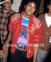 athletic leather jackets - Michael Jackson MJ Costume Beat It Leather Jacket Free Billie Jean Glove