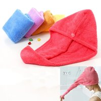 Wholesale Magic Quick Dry Hair Shower Caps Microfiber Towel Drying Turban Wrap Hat Caps Spa Bathing For US PX T04