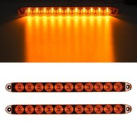 Wholesale 15 quot Amber LED Signal light Bar Function Diodes Surface Mount Trailer Boat