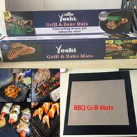 Wholesale Hot BBQ Grill Mats Grill Bake Mats Non Stick Silicone Baking Pad For Cake Cookie BBQ Kitchen Baking Pastry Tools mats box WX K12