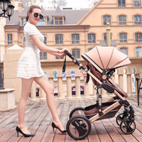 Wholesale New Folding Baby Stroller Pram Portable baby Carriage for Newborn Sit and Lie Stroller Aluminum Tube