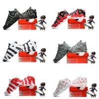 basketball gym floor - Sneakers Kids Air More Uptempo Black Gym Red Varsity Olympic Children Basketball Shoes Kids Sports Shoes Toddlers Birthday Gift