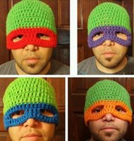 adult gigs - Funny Cool Hat Novelty Handmade Knitted Adult Photo Props Caps Beanies Crochet Animal Gig Mask