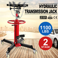Wholesale 1100 LB Stage Hydraulic Transmission Jack w Swivel Wheels Lift Hoist