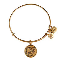 baltimore orioles gifts - Baltimore Oriole Cap Logo Charm Bangle Alex and Ani copper Bangle Expandable Antiqu Silver and gold Bangle new style bracelets