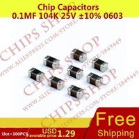 Wholesale Chip Capacitors uF K V nF pF Package0603 Metric SMD