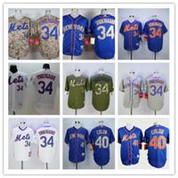 Wholesale Hot sale New York Mets Men s Noah Syndergaard Bartolo Colon MLB Baseball Jersey White Blue Grey Sport Jerseys Stitched Logo