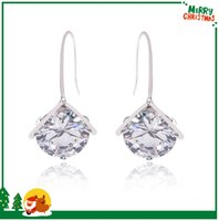 big crystal gemstone - Luxury Brand Big Green Crystal Gemstone Stud Earrings For Women Long Earrings Gems Best Sellers Purple Earrings Lever Back Free Ship