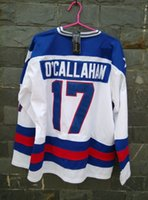 Wholesale Vanled Miracle On Ice Team USA Jack O Callahan Hockey Jersey White size small S xl