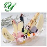 acrylic drinkware - Ice Cream Cup Home made ice Cream Tools Dessert bowls children Dishes Cup Bar tools Party Drinkware Acrylic ml cm banana split dishes
