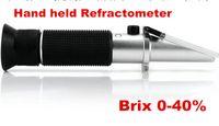 alcohol meter beer - new Handheld refractometer Wine sugar alcohol concentration meter densimeter alcohol beer Brix grapes ATC