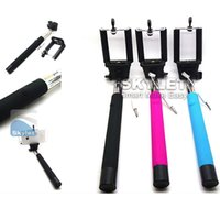 audio piece - Z07 Plus Extendable Monopod with groove Selfie Stick Rod Wired Audio Cable Take Pole for Iphone iOS Android Pieces DHL