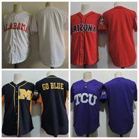 baseball alabama - 2017 Alabama Crimson Tide Arizona Wildcats Michigan Wolverines College Baseball Jerseys Blank TCU Horned Frogs University Baseball Jersey