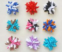 20pcs 2.5 pouces bébé Romantique boucleur arcs bouquets fleurs bouchon barrettes korker ruban poils cheveux bobbles cheveux accessoires enfants PD007