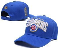 Wholesale New Caps World Series Championsl Snapback Cap Cubs Hats Blue And Gray Team Cap Mix Match Order All Caps in stock Top Quality Hat