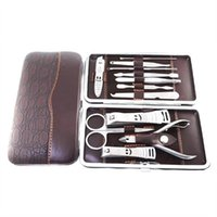 Wholesale Stainless Nipper Cutter Nail Clipper Pedicure Manicure Set Kit Case in Set