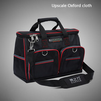 Wholesale quot x17x28cm Multifunctional Electrical Bag Tools Case Oxford Bag Electrician Canvas Tool Bag Toolkit