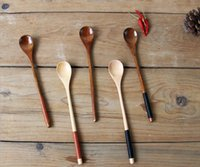 Wholesale Good quality The Wooden Tea coffee Spoon creative Tableware Milk honey Spoon Wooden Size cm