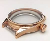 Wholesale mm Golden PVD watch case part stainless steel case fit ETA movements Watch Accessories