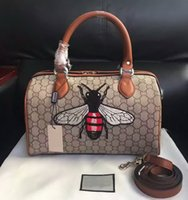 bee embroidery design - New Style High quality design bee embellished Embroidery womens Fashion Bags handbags shoulder bag Genuine Leather messenger Totes bag